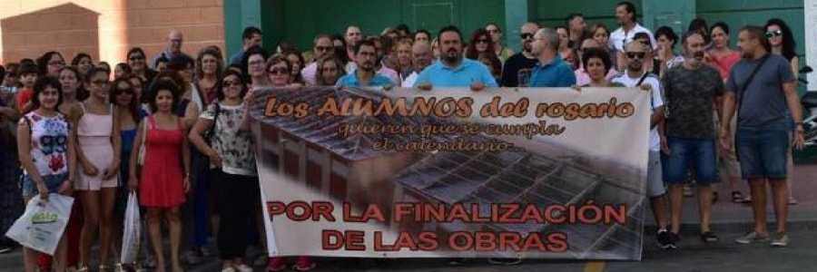 protesta en santomera colegio