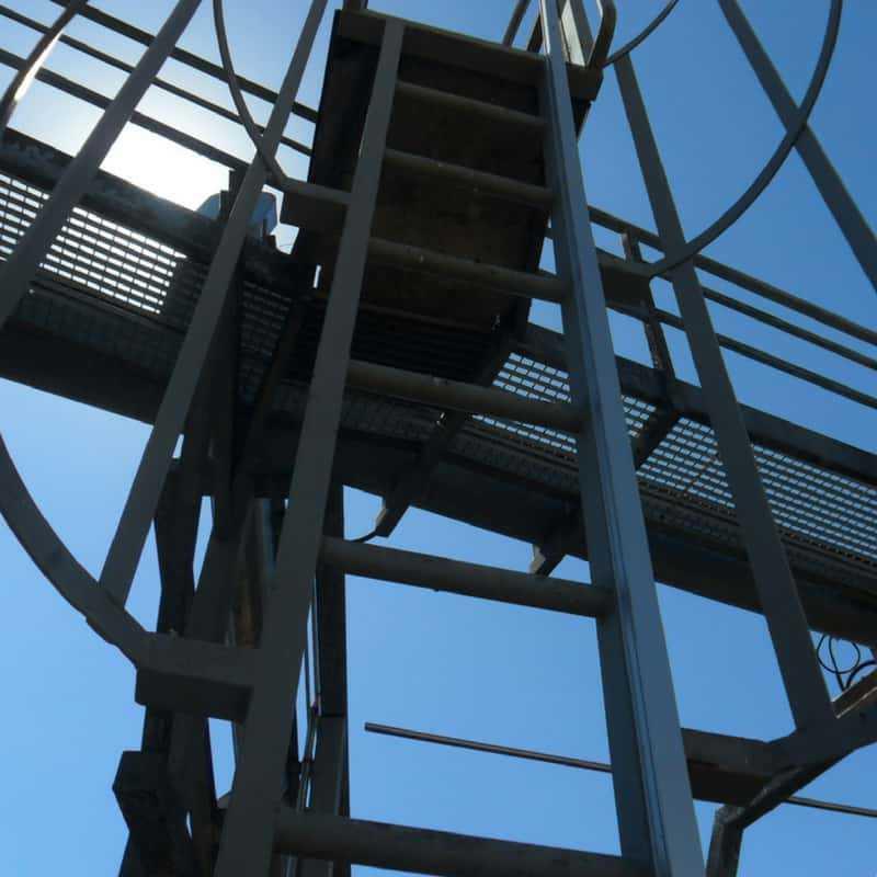 Escaleras para trabajos en altura