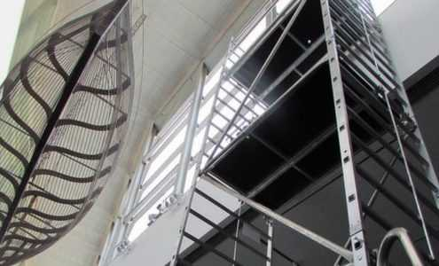 plataforma de aluminio