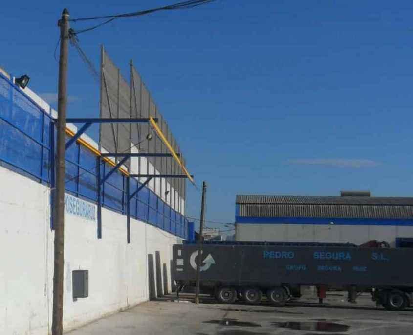 Muelle de carga camiones cisterna