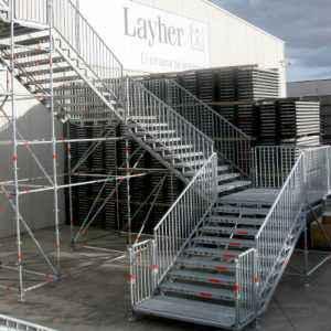 Escalera andamio Layher