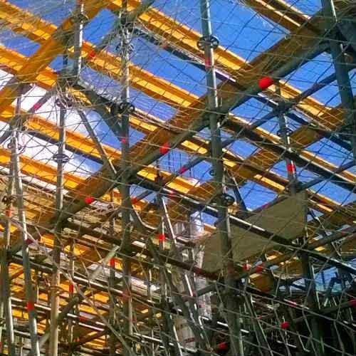 Red de andamio o cubrimiento de fachada