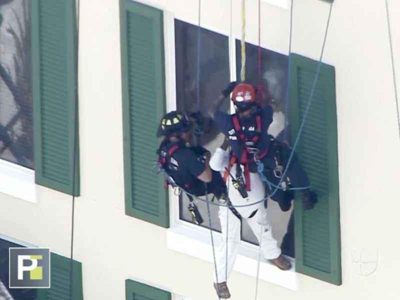 Rescate vertical bomberos de Miami