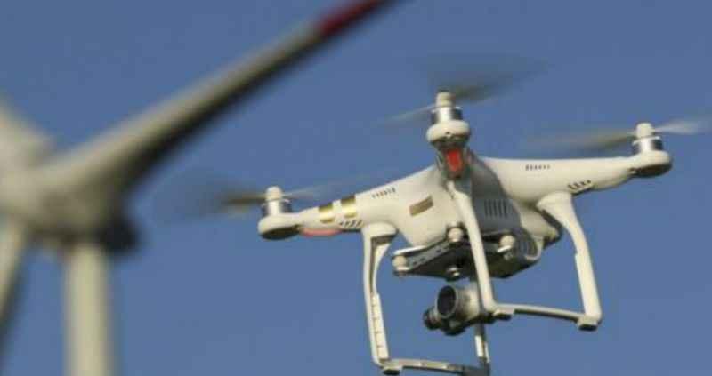 Dron aerogenerador industrial