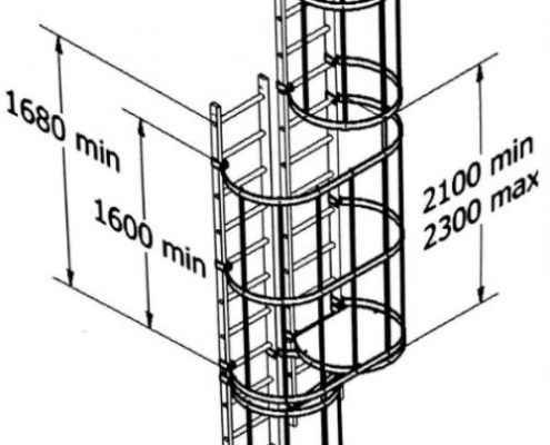 Escalera modular de servicio