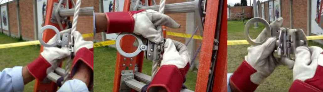 Sistema anticaída para subir a postes y antenas