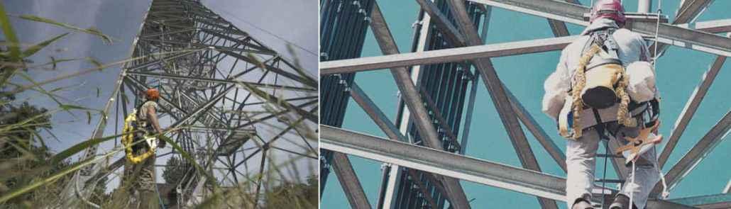 Trabajos en altura sobre antenas de comunicacion