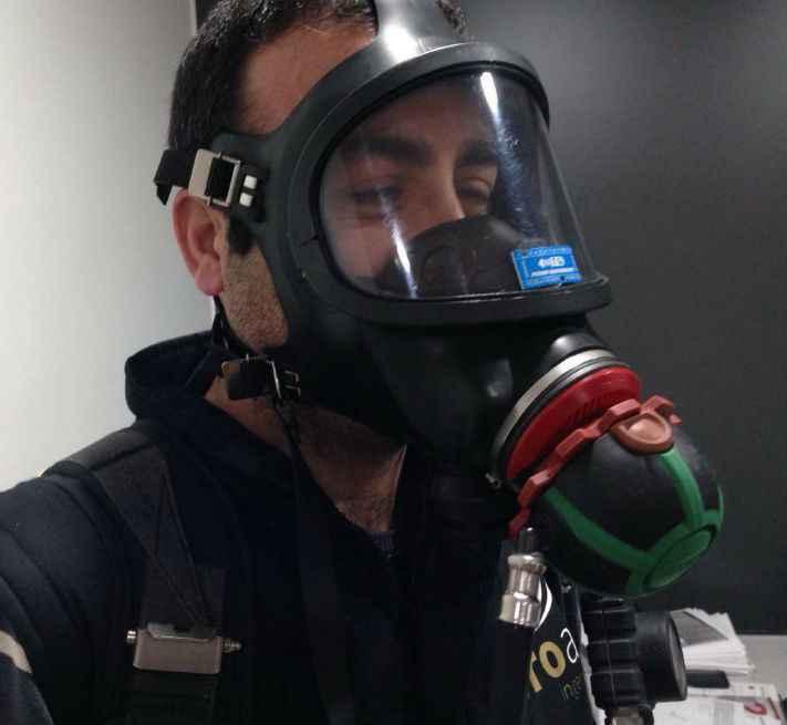 máscara equipo respiracion