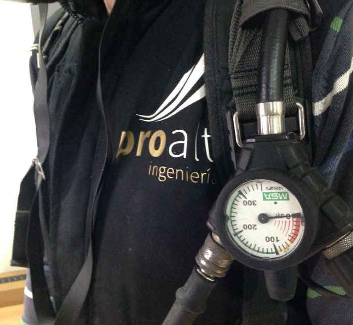 manómetro equipo respiracion