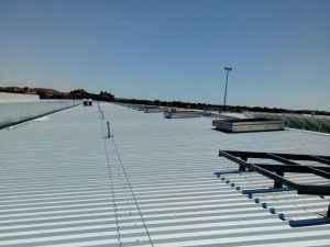 linea anclaje cubierta metalica