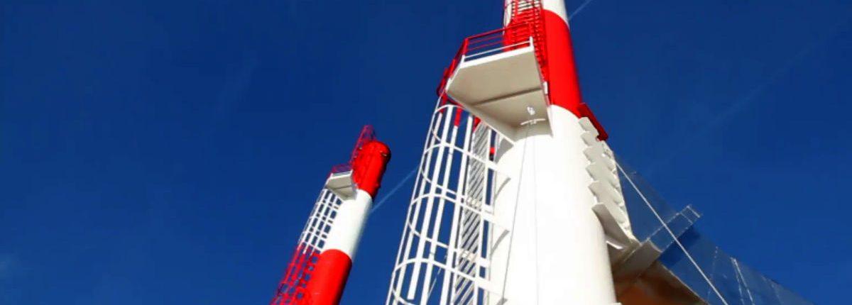 Escaleras en chimeneas y antenas industriales
