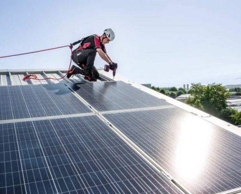 anticaida paneles solares