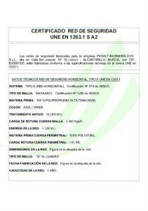 Red UNE 1263 certificada