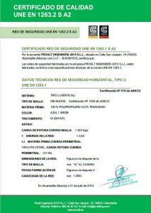 Certificado red seguridad obra