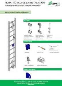 Instalacion escalera fija vertical