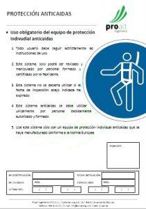 Certificación de sistema anticaída