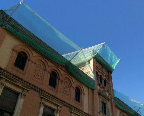 redes proteccion fachada