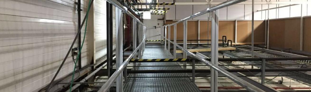 Pasarela industrial aluminio