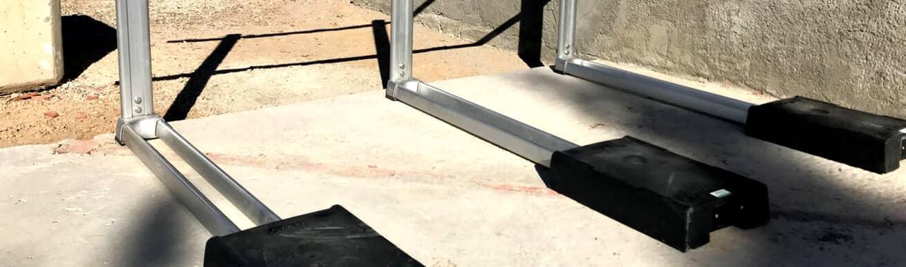 barandilla aluminio contrapesada inox