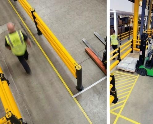 separacion seguria peatones vehiculos fabricas y almacenes