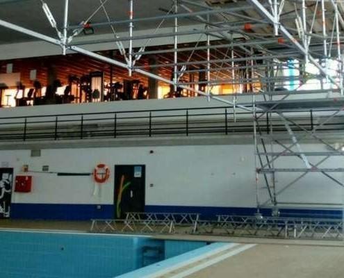 Andamio aluminio piscina