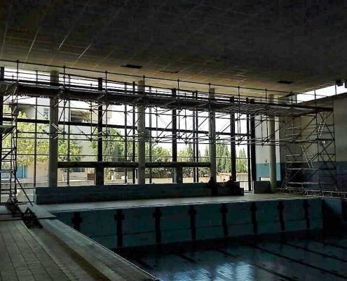 Mantenimiento tejado en piscina cubierta