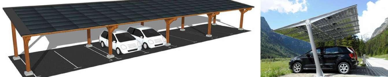 Marquesina solar aparcamiento