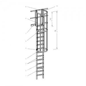 Las escaleras de gato se fabrican a medida, siguiendo las especificaciones técnicas de los técnicos que se ponen en contacto con nosotros.