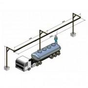 Línea de vida para un camión cisterna