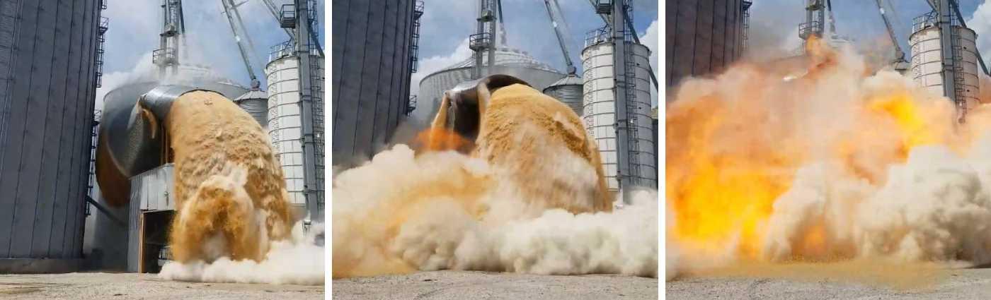 explosion en silo harina atex