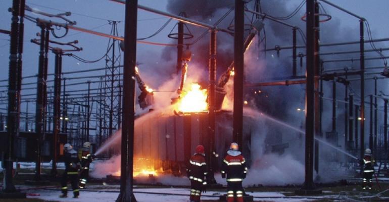 Incendio en nave industrial