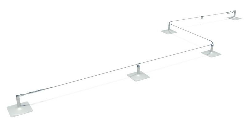 Línea de vida horizontal tipo, instalada por Proalt Ingeniería